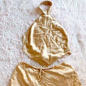✨ Victoria's Secret Silk Open Back Set